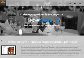 sito web menu ristorante su tablet