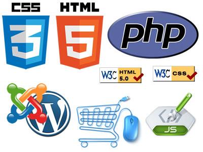 Html5 php joomla wordpress ecommerce Bergamo